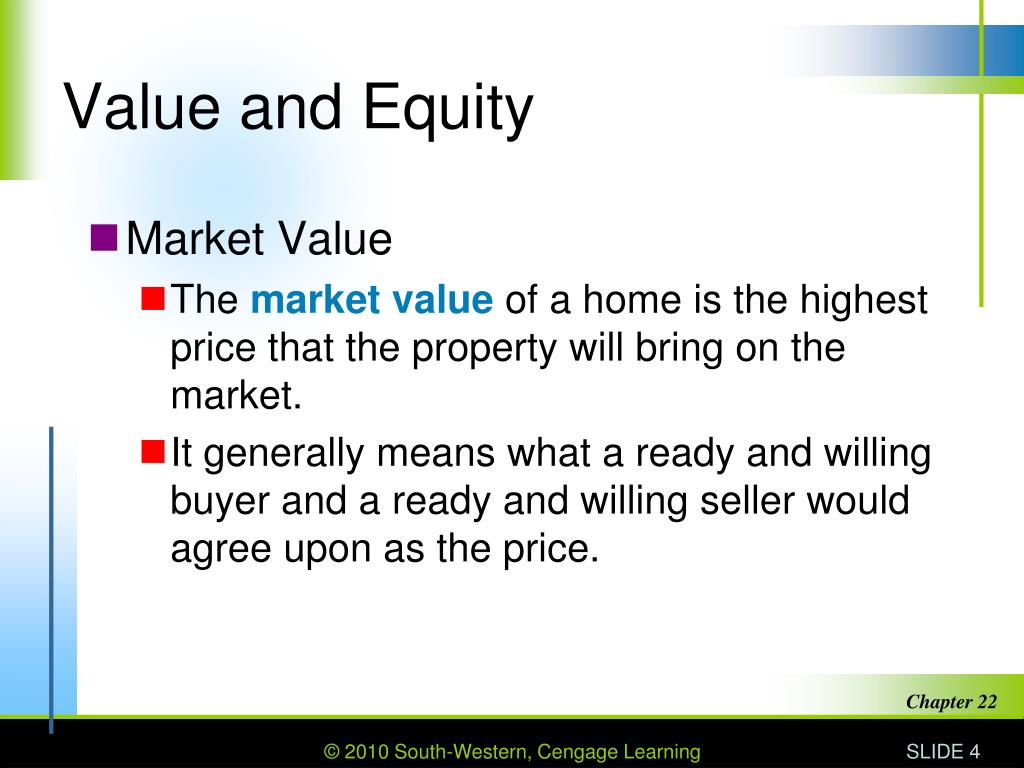 Value and Equity
