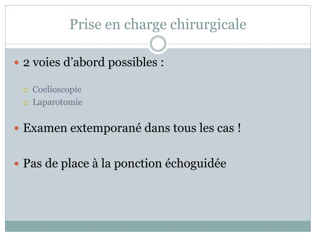 Prise en charge chirurgicale