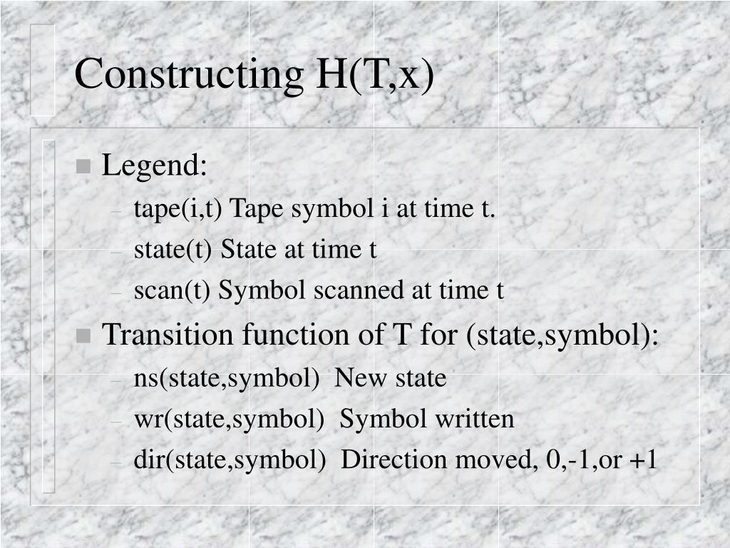 Constructing H(T,x)