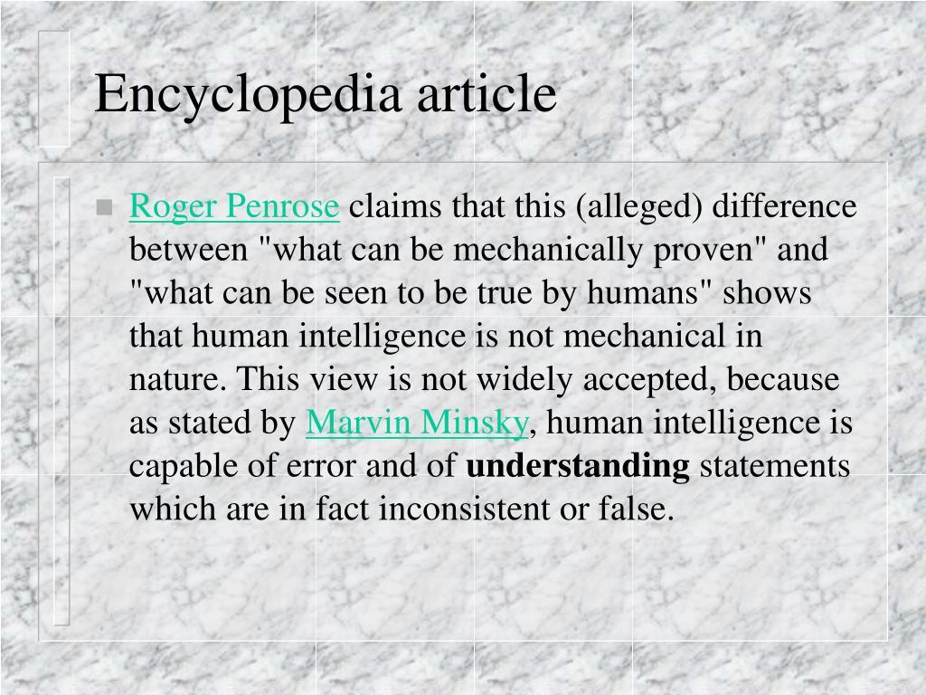 Encyclopedia article