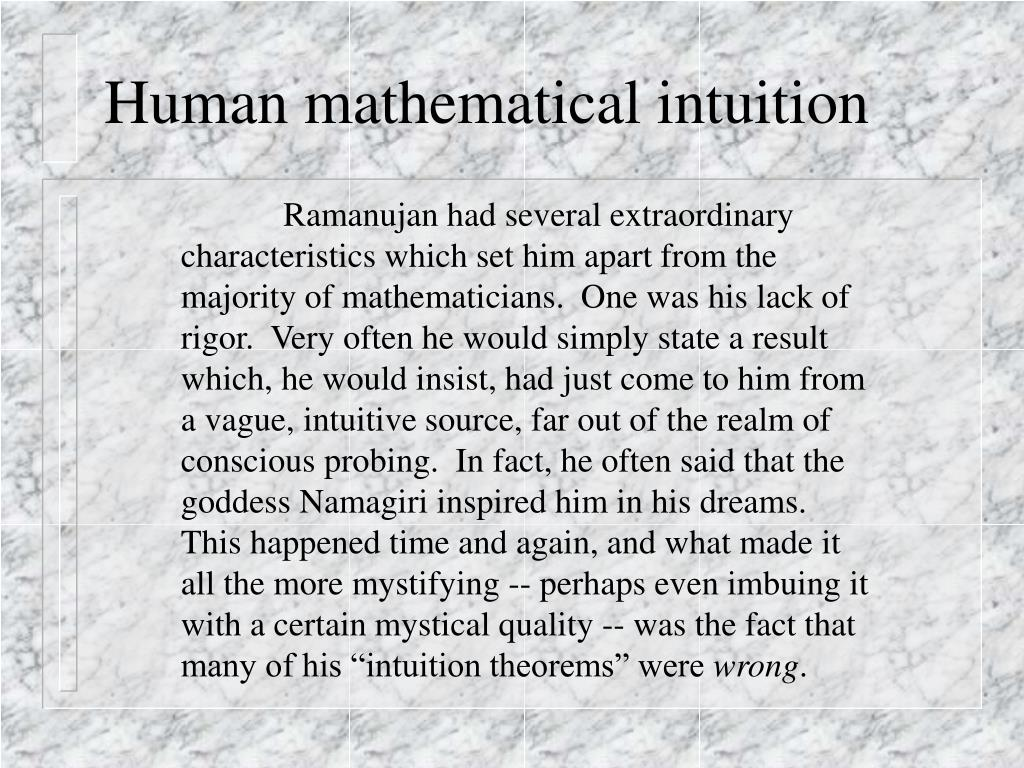 Human mathematical intuition