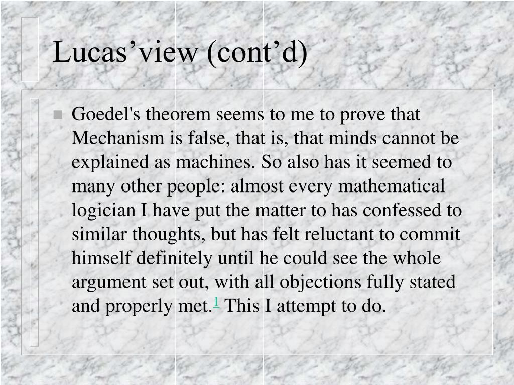 Lucas'view (cont'd)