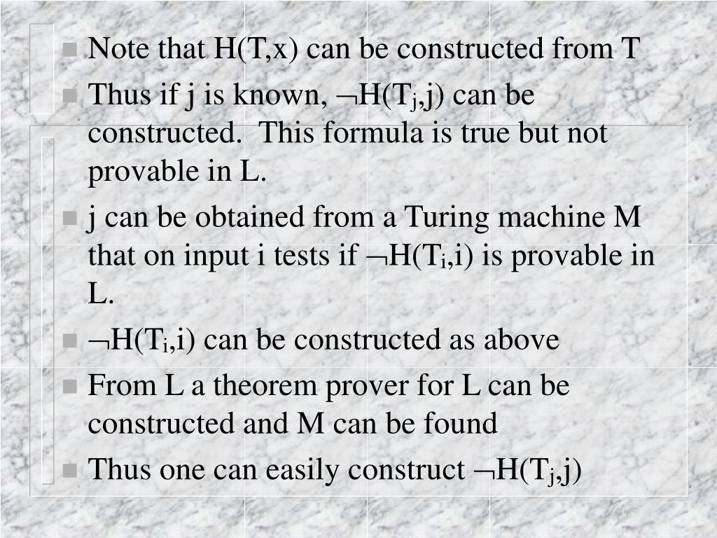 Note that H(T,x) can be constructed from T