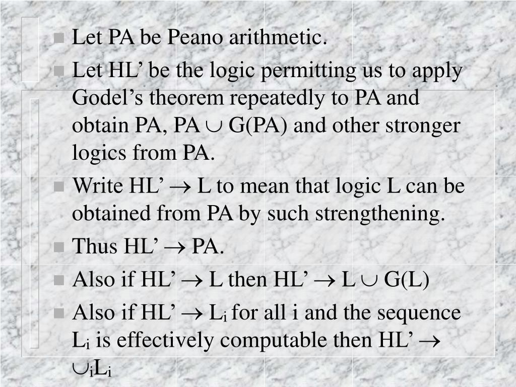 Let PA be Peano arithmetic.
