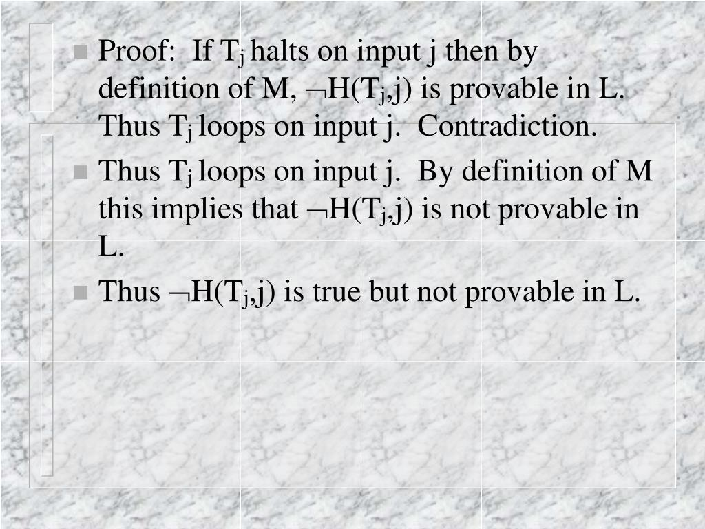 Proof:  If T