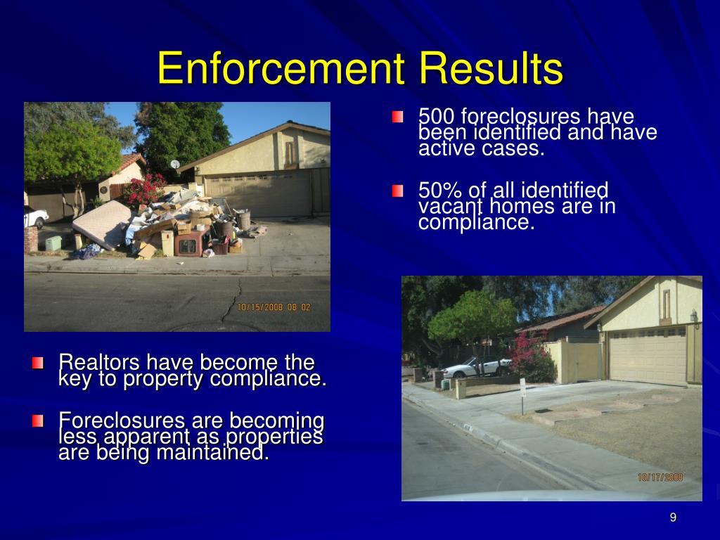 Enforcement Results