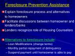 foreclosure prevention assistance