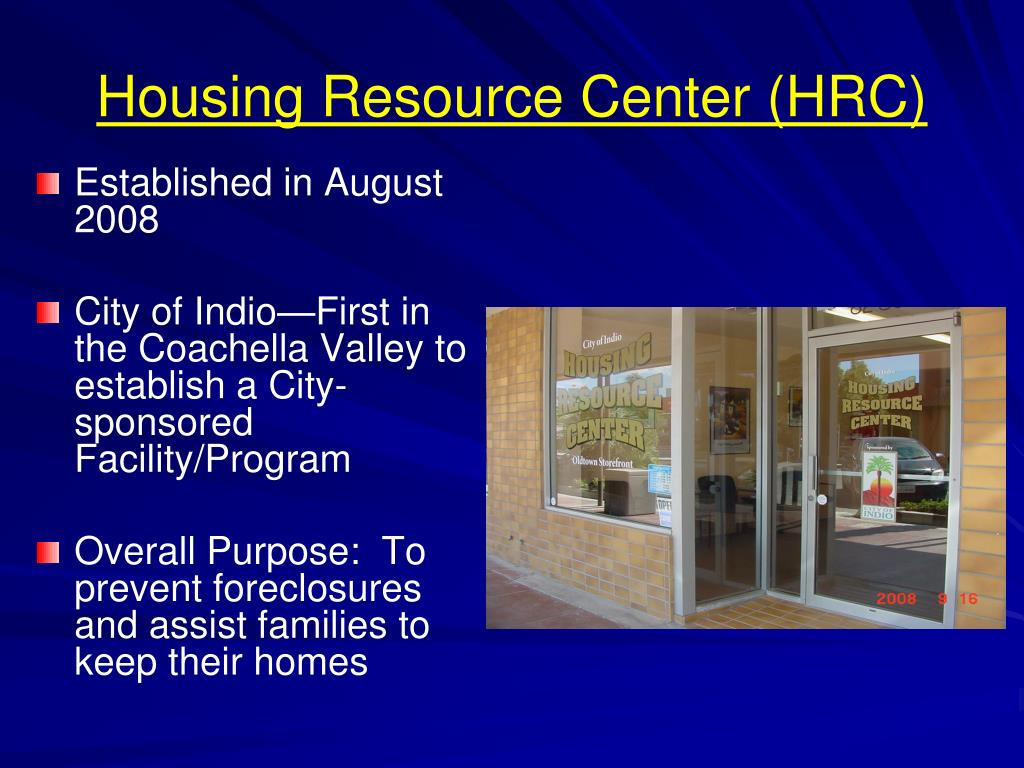 Housing Resource Center (HRC)