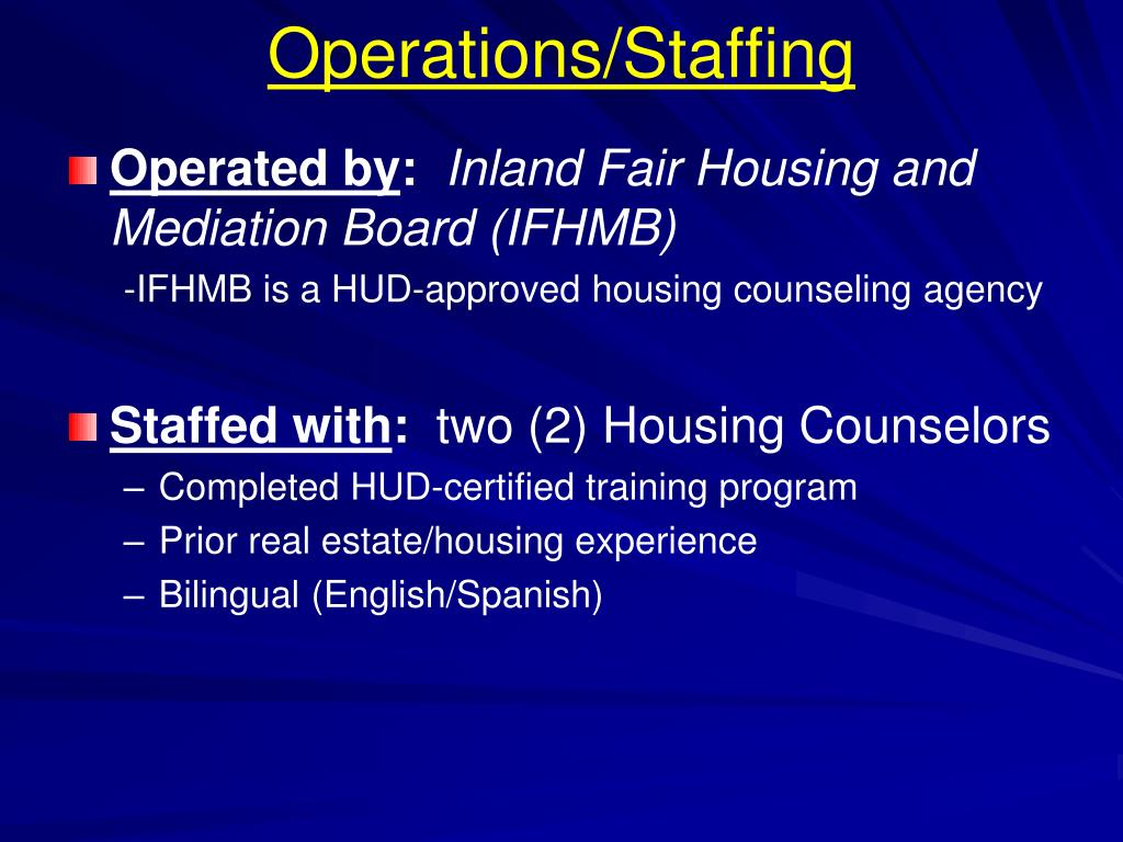 Operations/Staffing