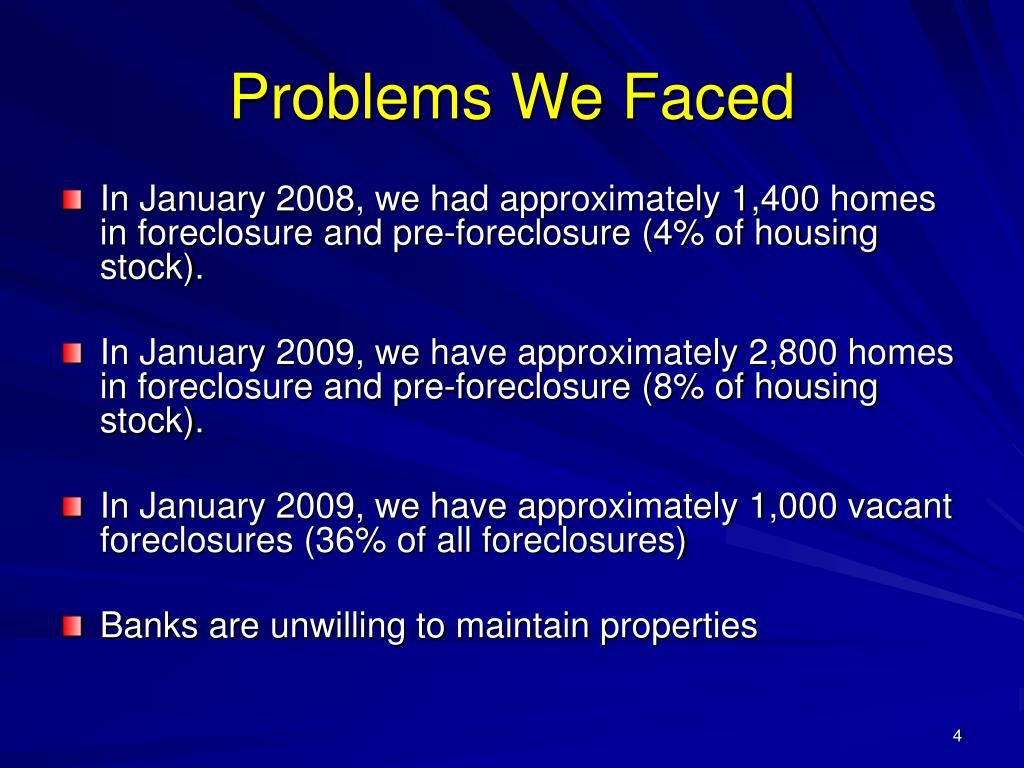 Problems We Faced