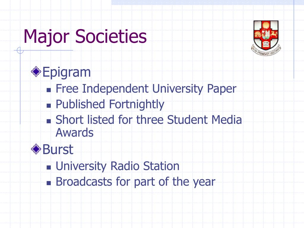 Major Societies