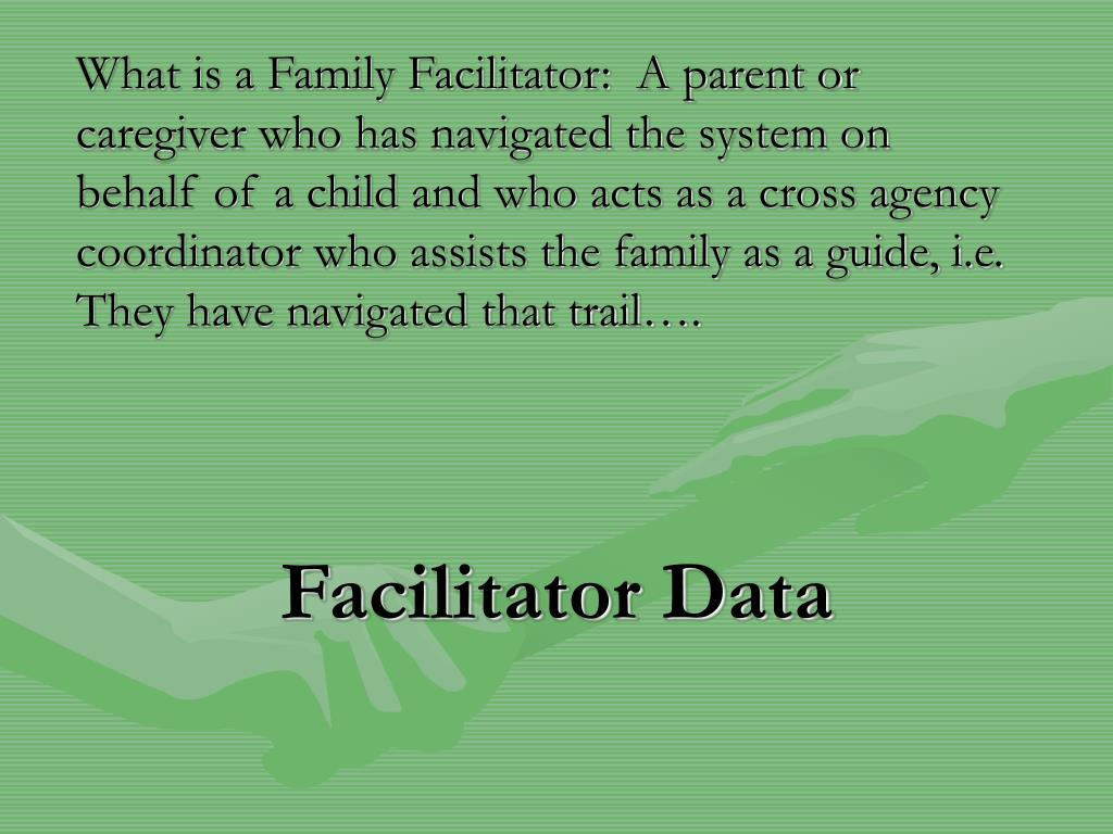 Facilitator Data