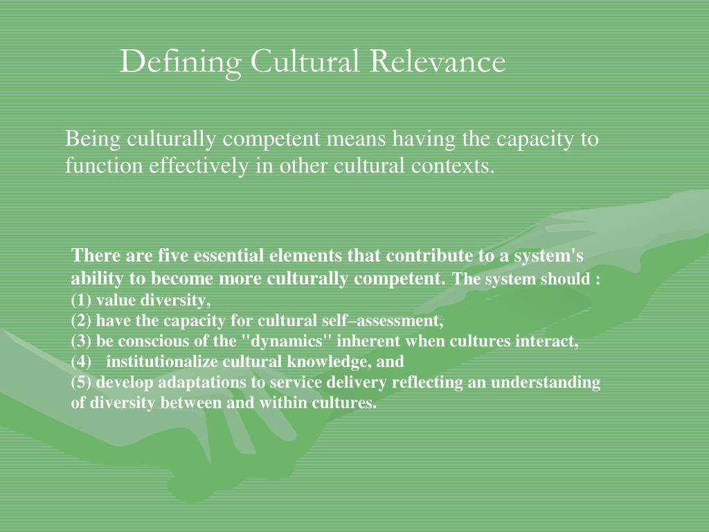 Defining Cultural Relevance