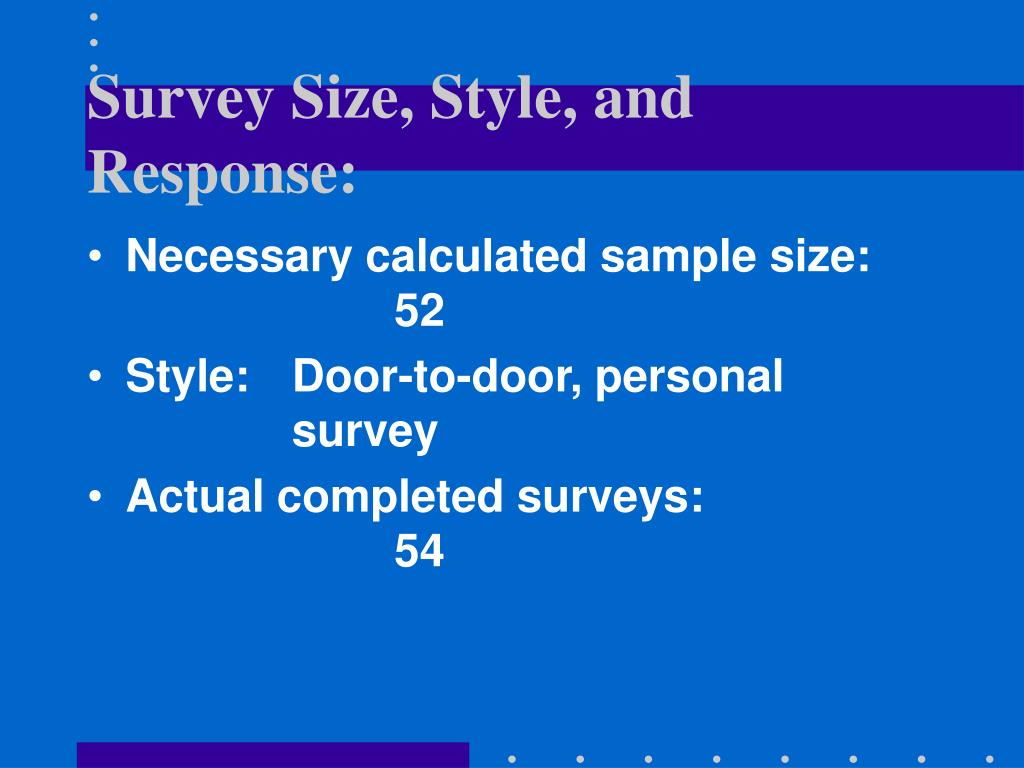 Survey Size, Style, and Response: