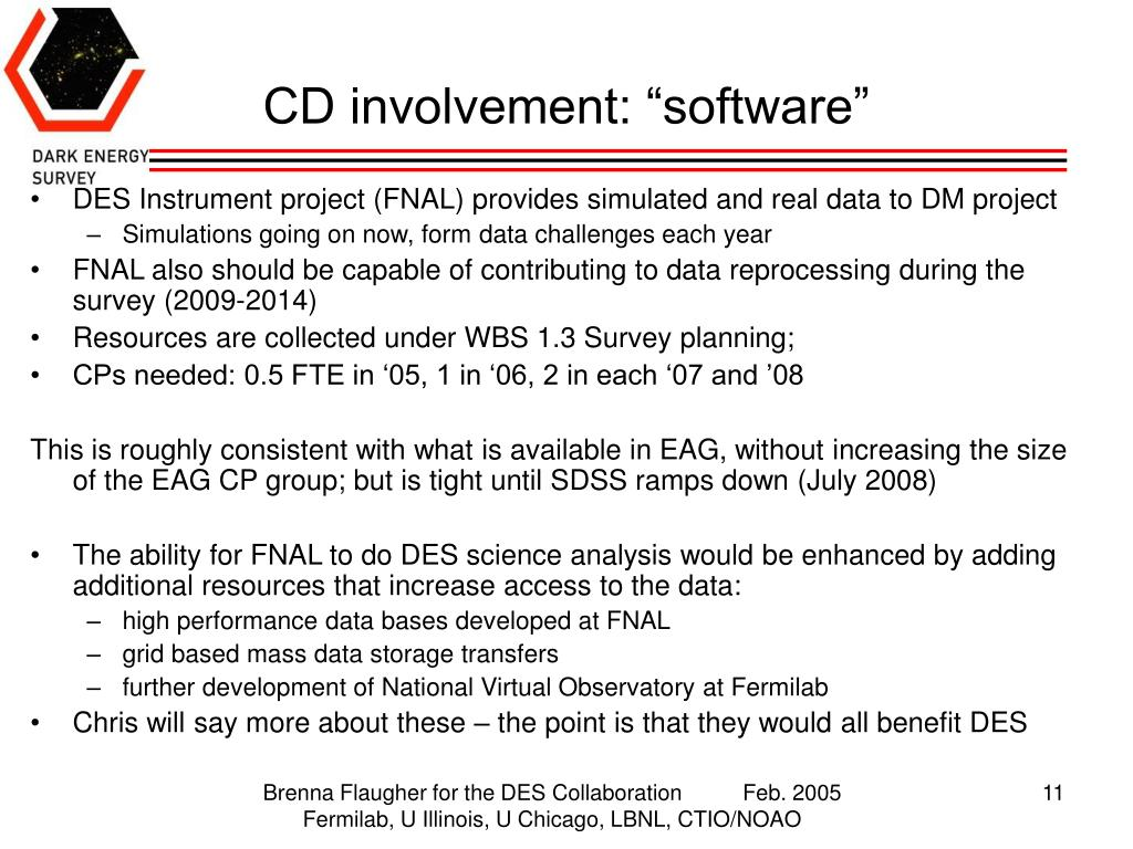 "CD involvement: ""software"""