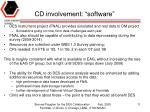 cd involvement software