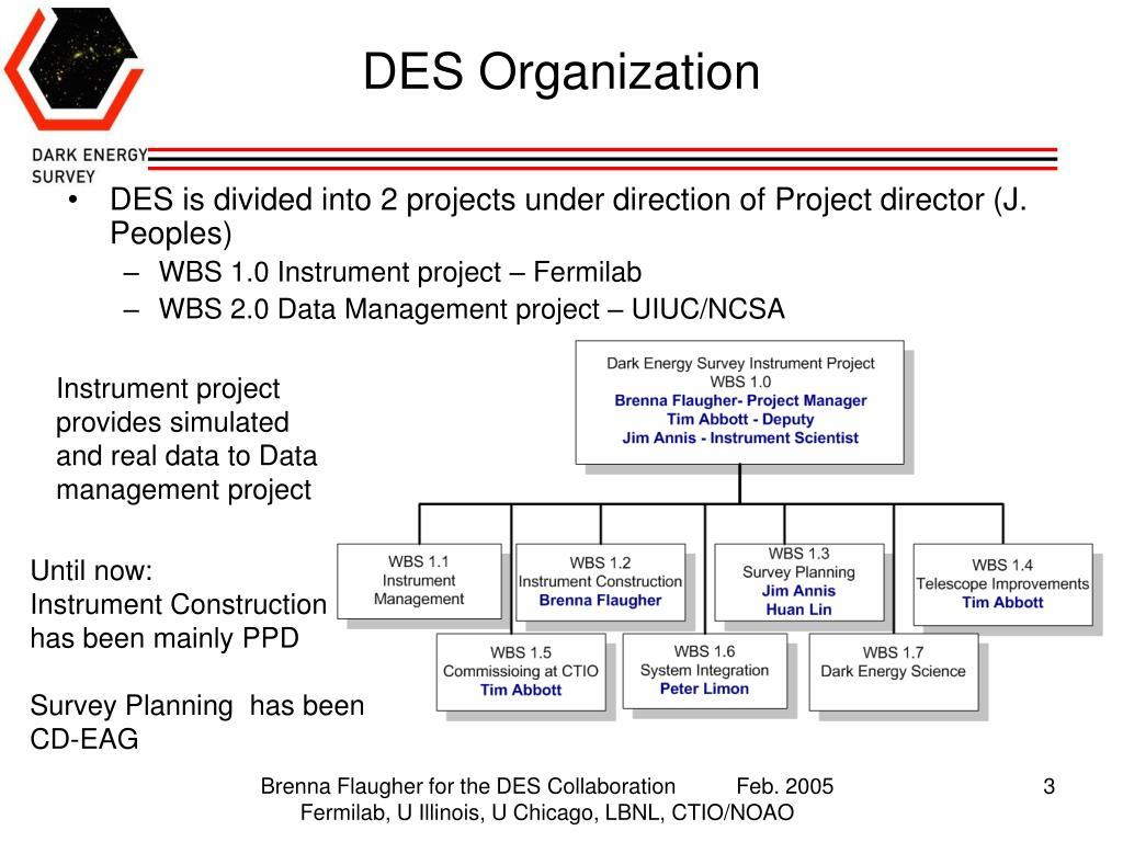 DES Organization