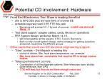 potential cd involvement hardware