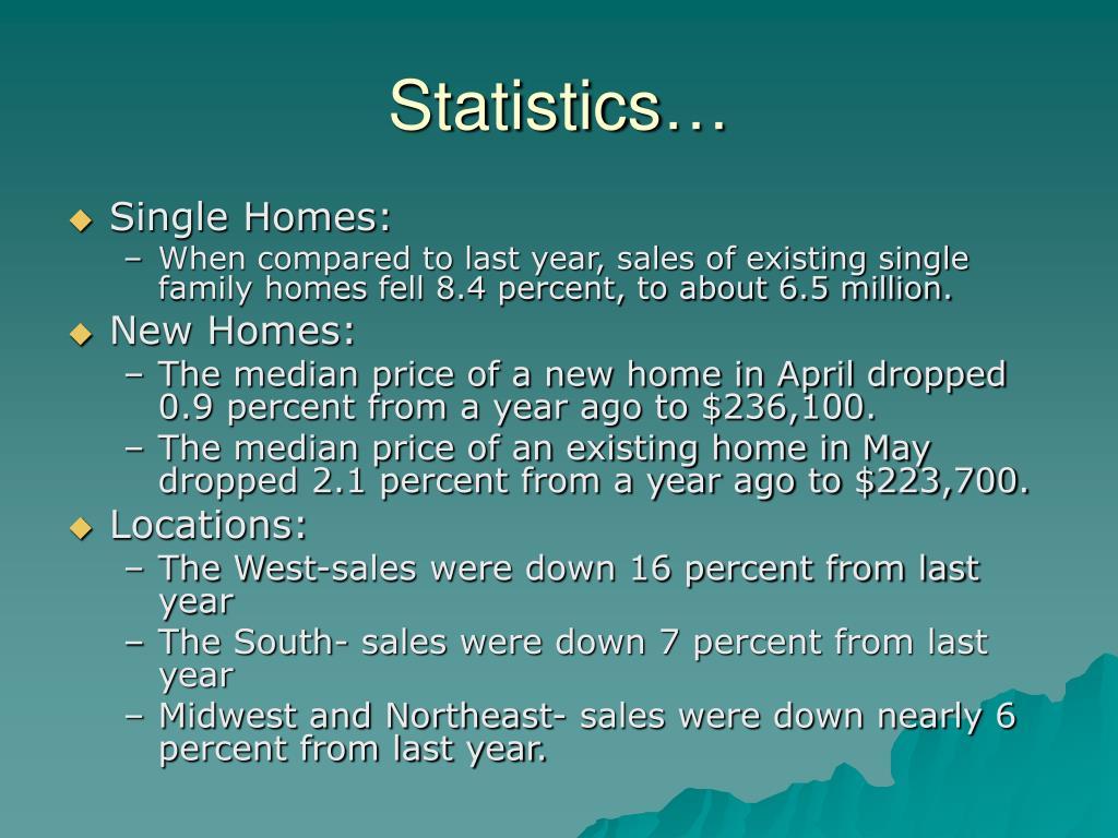 Statistics…
