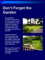 don t forget the garden
