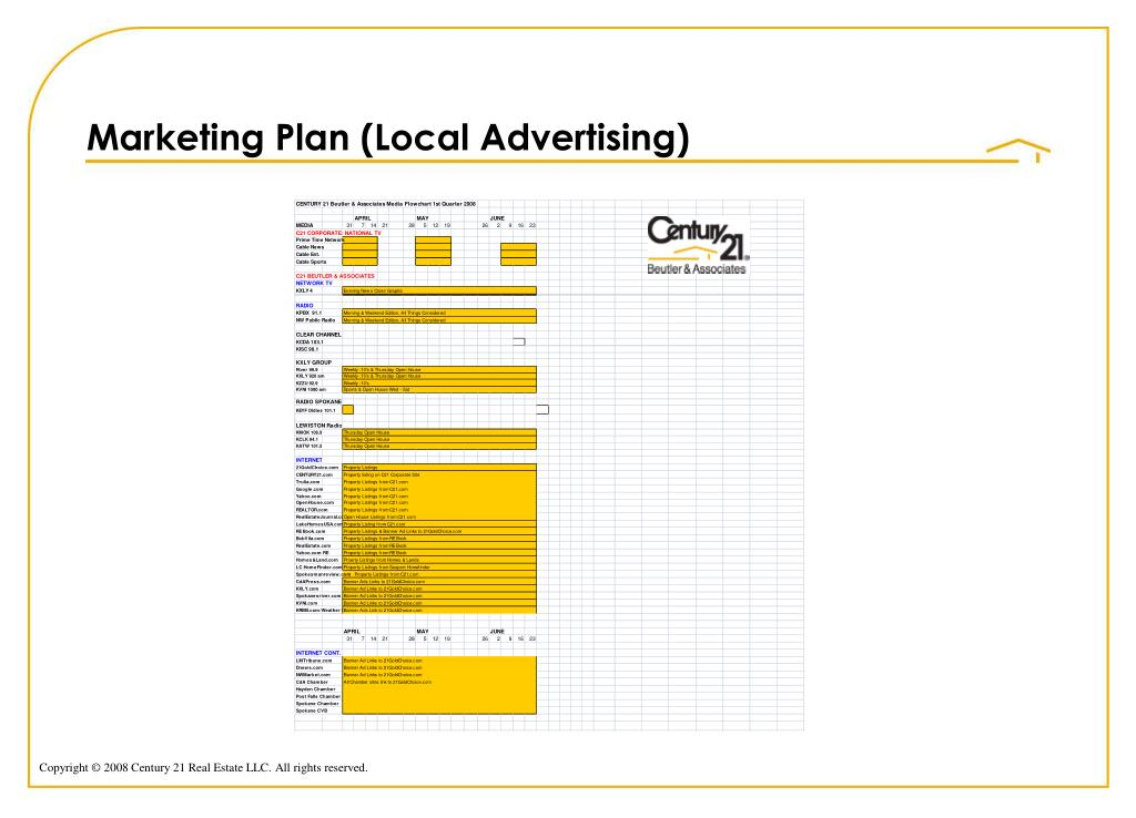 Marketing Plan (Local Advertising)