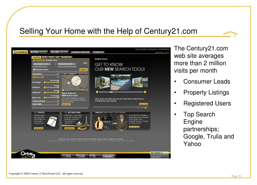 Selling Your Home with the Help of Century21.com