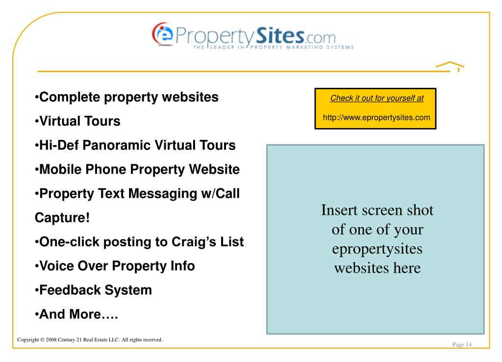 Complete property websites