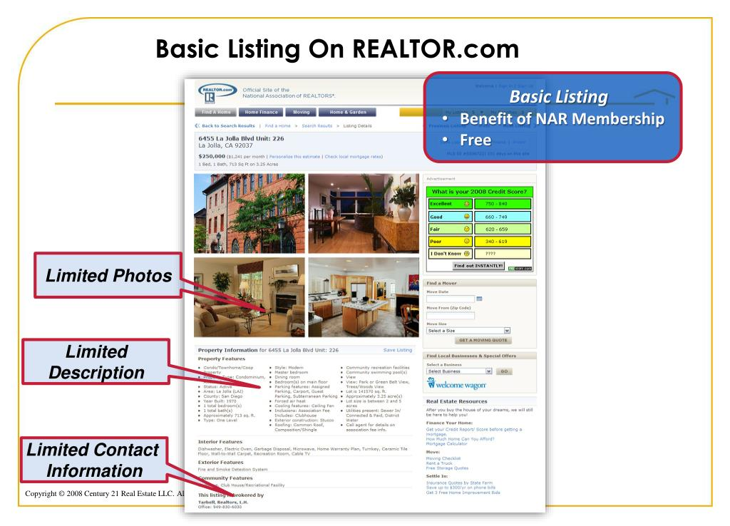 Basic Listing On REALTOR.com