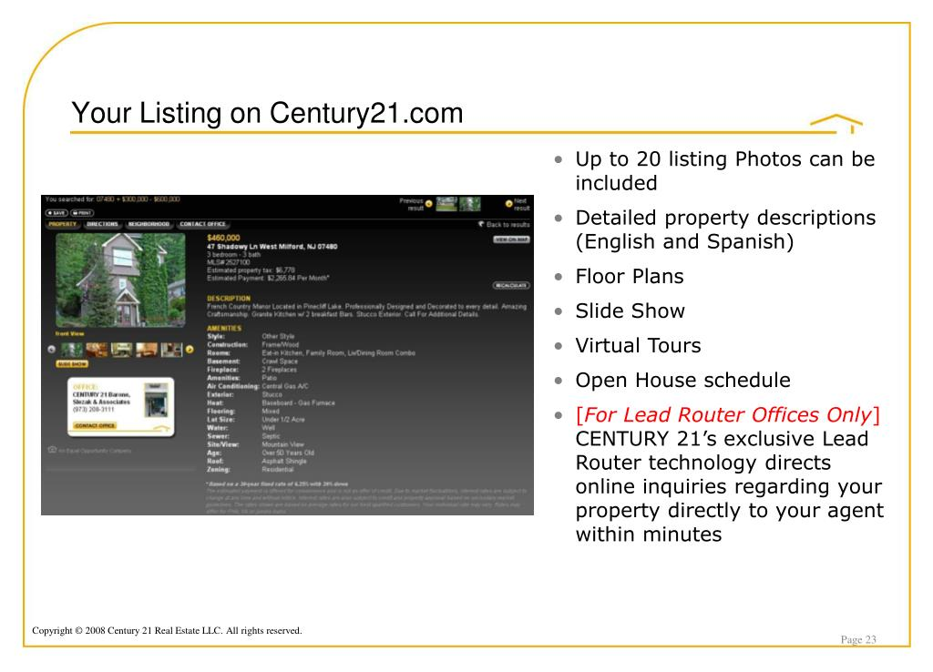 Your Listing on Century21.com
