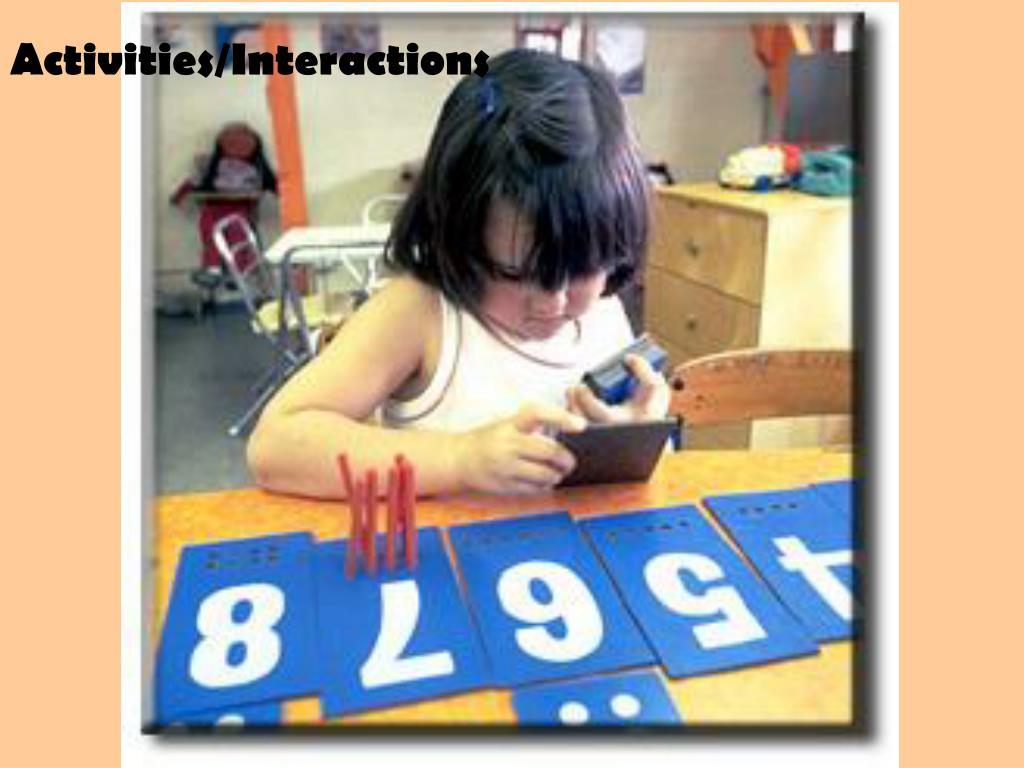 Activities/Interactions