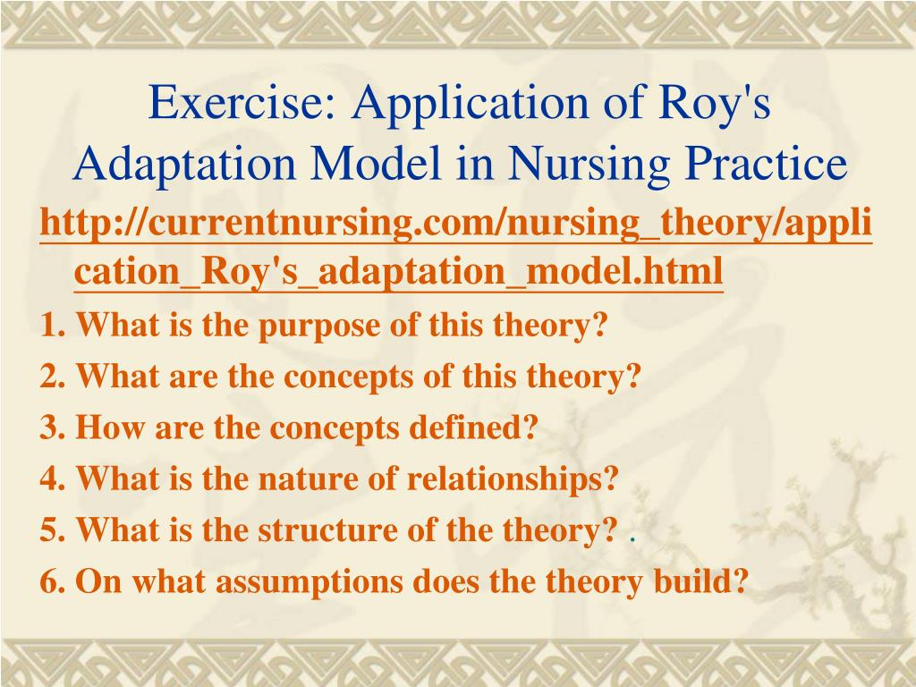 adjusting and adapting to change chronic illness patients nursing essay Change agent (intrapreneur)  chapter 2 the essence of nursing: knowledge and caring 55  explaining what nursing is to consumers/ patients (though no definition.