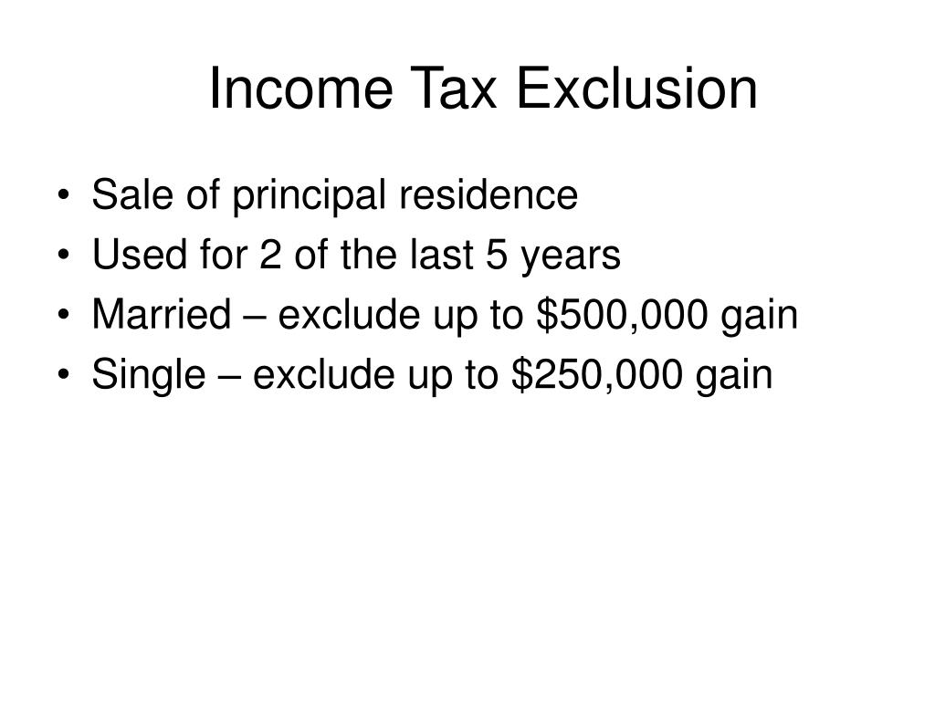 Income Tax Exclusion