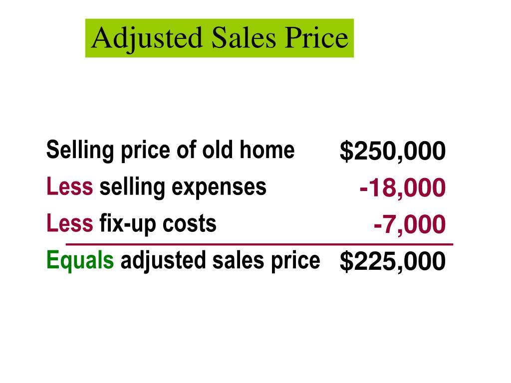Adjusted Sales Price