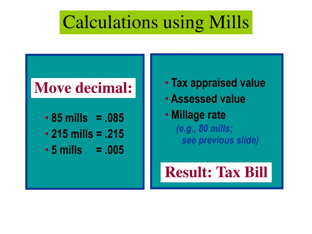 Calculations using Mills