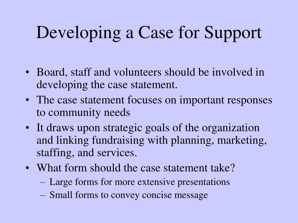 Developing a Case for Support
