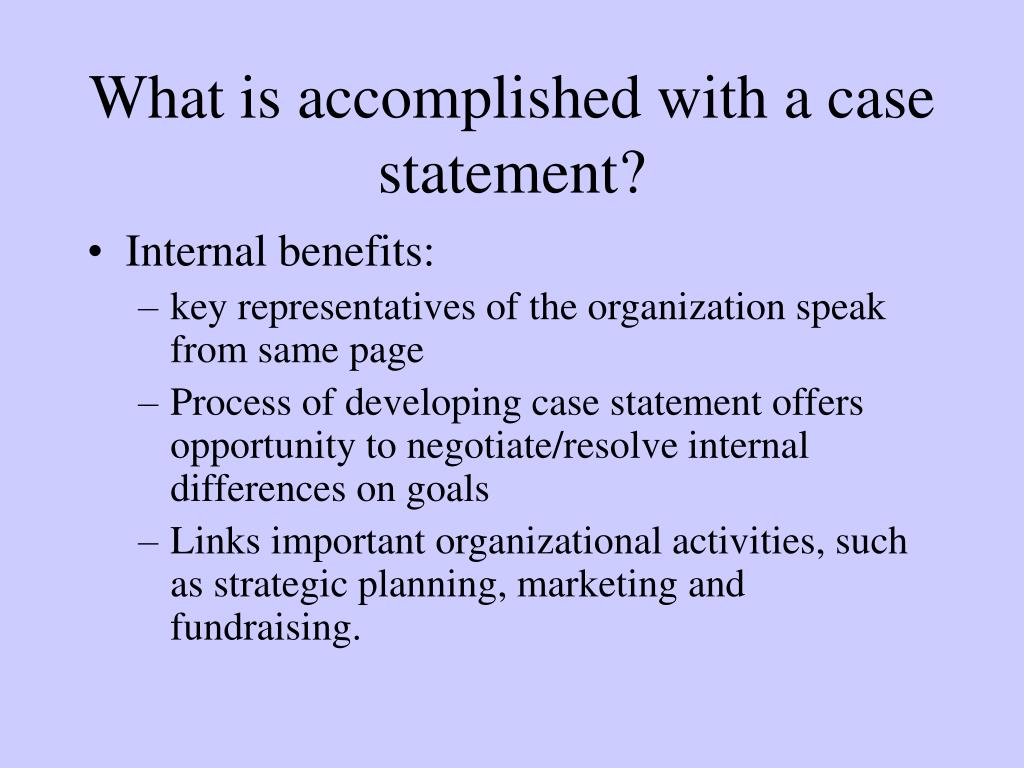 What is accomplished with a case statement?