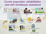county acquisition rehabilitation sale with homebuyer assistance