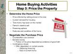 home buying activities step 3 price the property