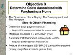 objective 3 determine costs associated with purchasing a home