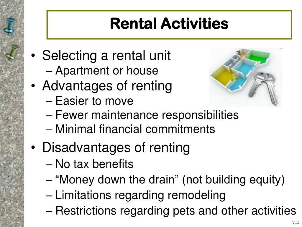 Rental Activities