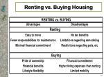 renting vs buying housing