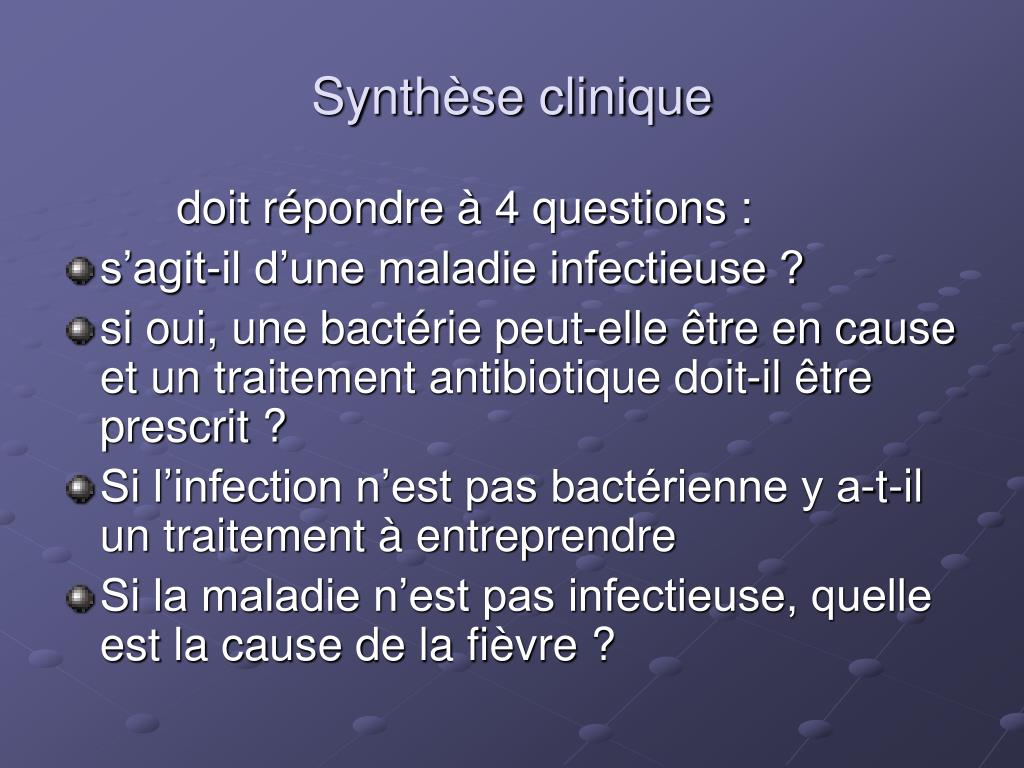 Synthèse clinique