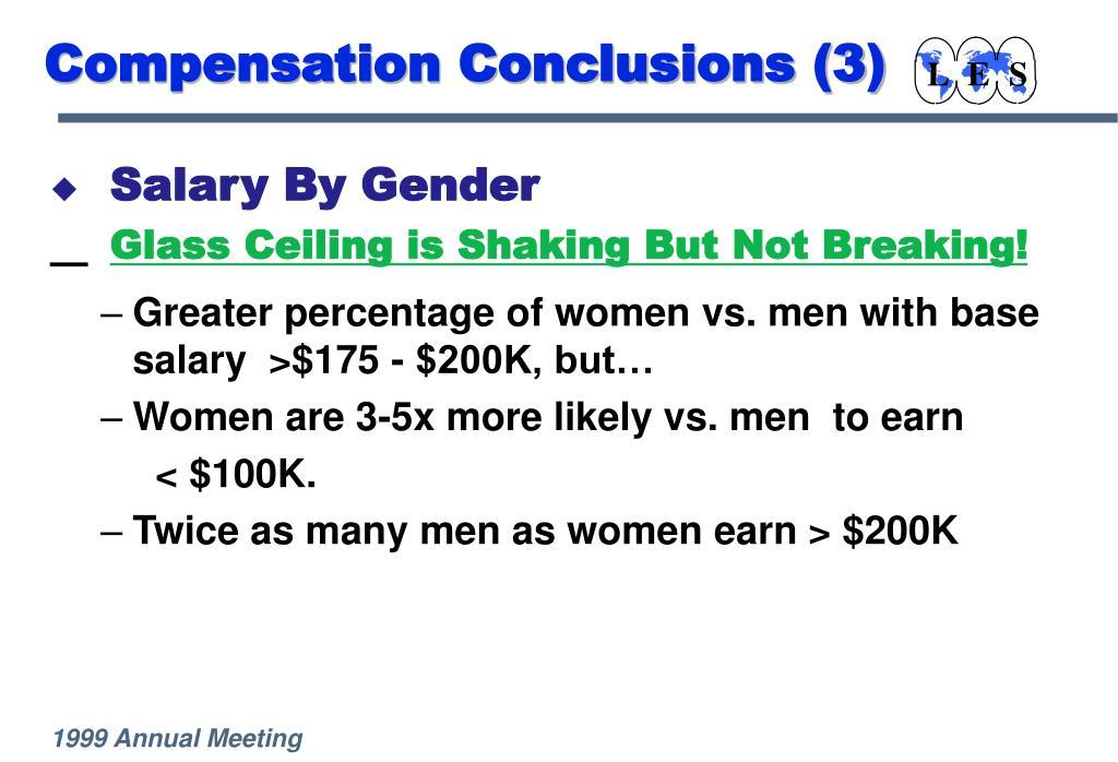 Compensation Conclusions (3)