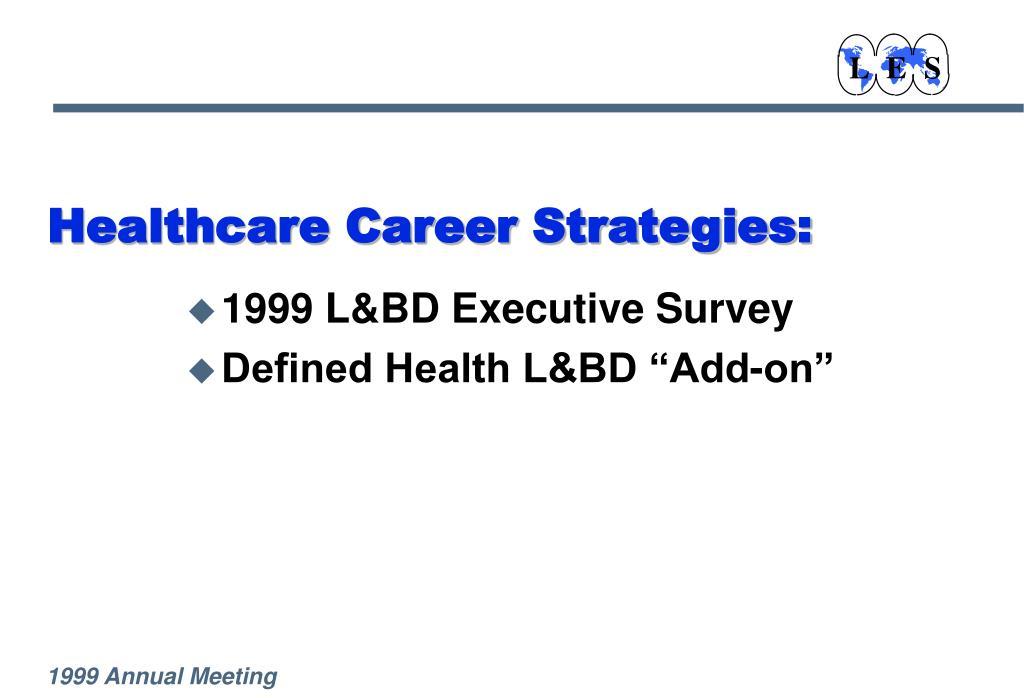 Healthcare Career Strategies: