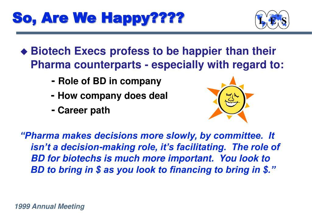 So, Are We Happy????