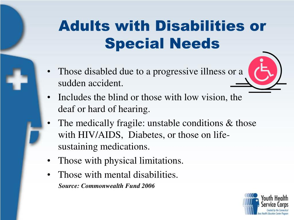 Adults with Disabilities or