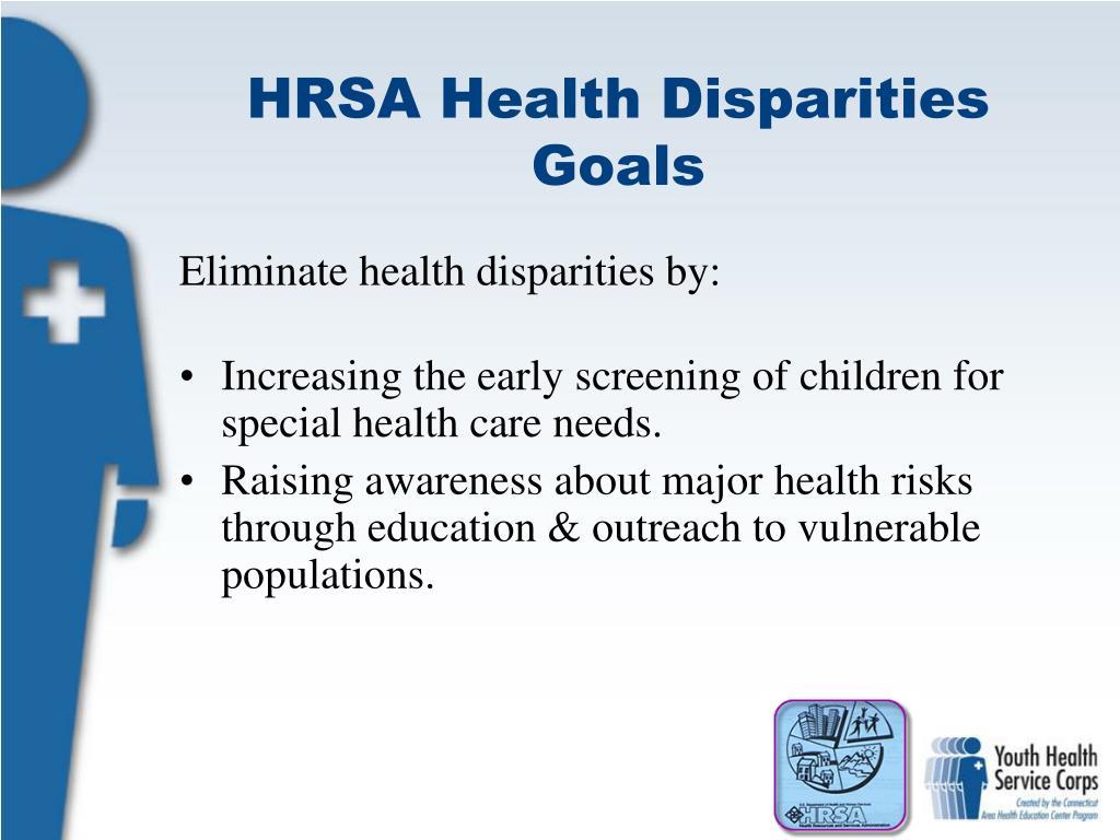 HRSA Health Disparities Goals