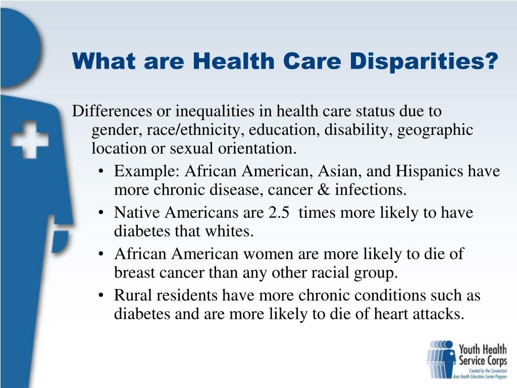 essay on health care disparities Health disparities - essay example disparities in primary care setting are based on health disparities signify as grievances concerning health issues.