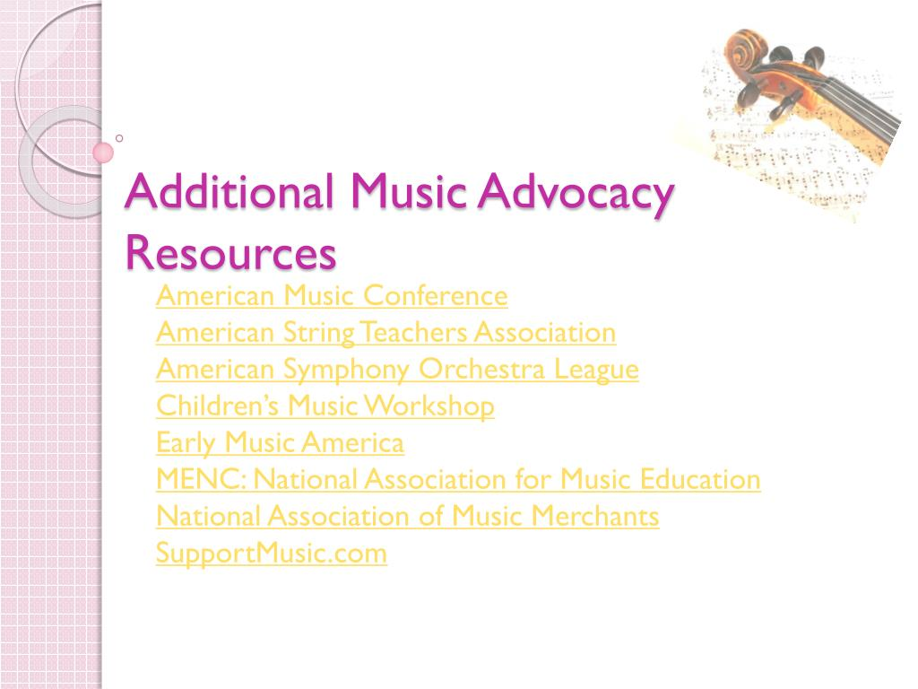 Additional Music Advocacy Resources