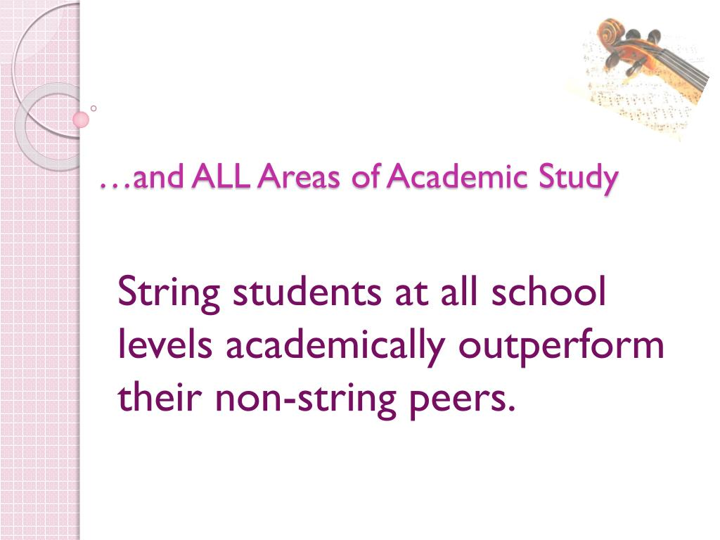 …and ALL Areas of Academic Study